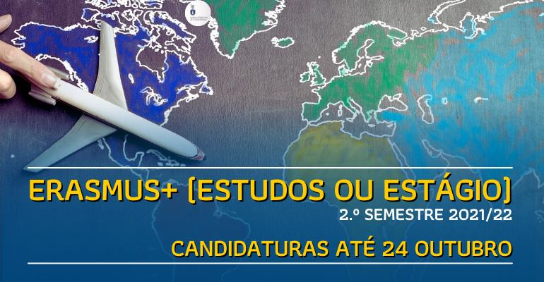 Candidaturas Erasmus - 2.º semestre